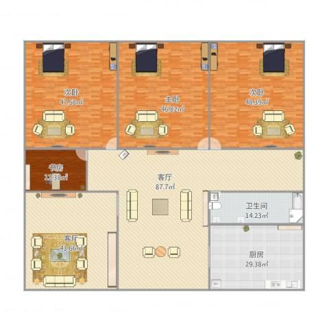 桃源居1114室2厅1卫1厨429.00㎡户型图