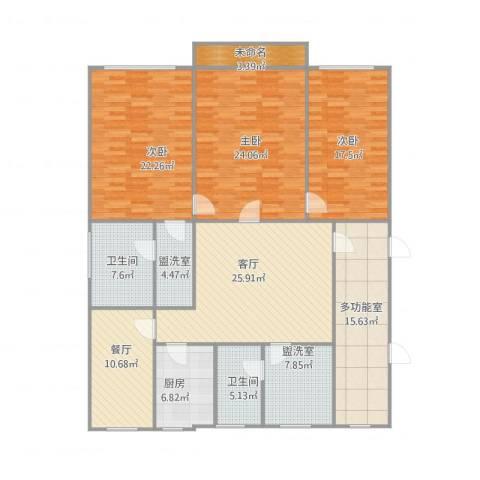 水映丽山3室4厅2卫1厨202.00㎡户型图