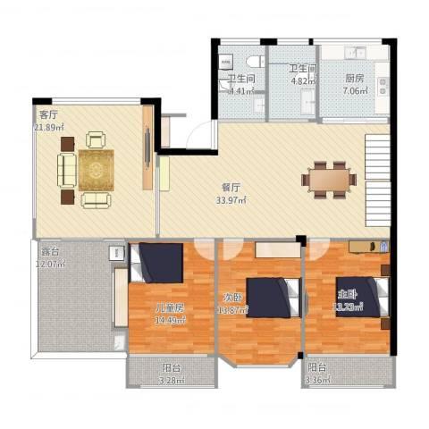 怡水嘉园(05幢)3室2厅2卫1厨181.00㎡户型图