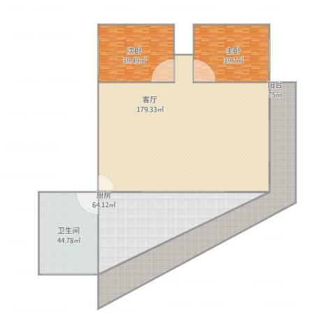 盈翠园2室1厅1卫1厨572.00㎡户型图