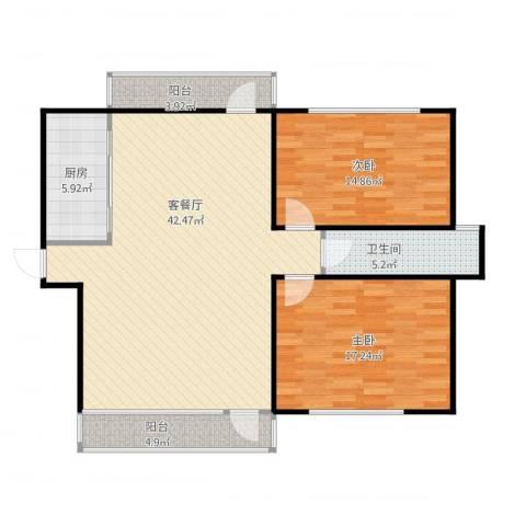 亲海园10032室1厅1卫1厨127.00㎡户型图