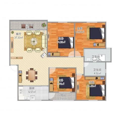 丰泽湖山庄4室1厅2卫1厨149.00㎡户型图