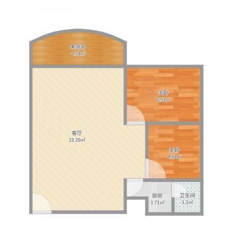 瑞丽花园荟雅阁L座5042室1厅1卫1厨57.00㎡户型图