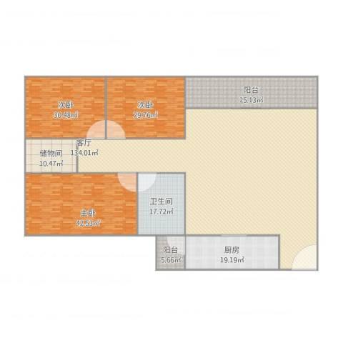 乐宜居华明轩6023室1厅1卫1厨410.00㎡户型图