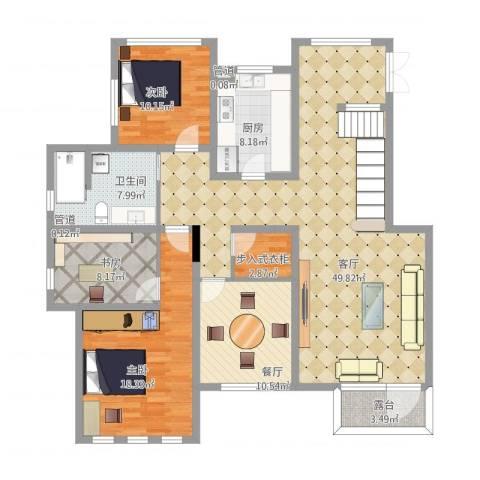 御龙仙语湾3室2厅1卫1厨137.03㎡户型图