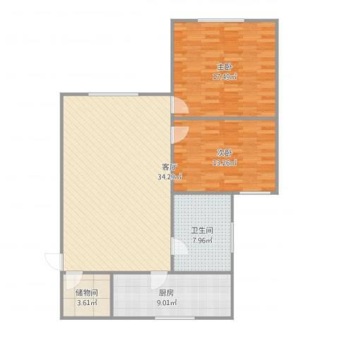 红柿苑22室1厅1卫1厨114.00㎡户型图