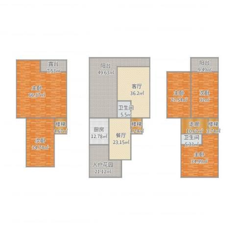 凯德泊宫5室2厅2卫1厨512.00㎡户型图