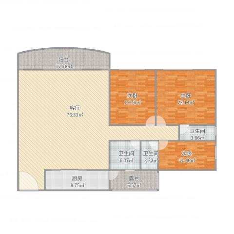 金菊村4043室1厅3卫1厨224.00㎡户型图