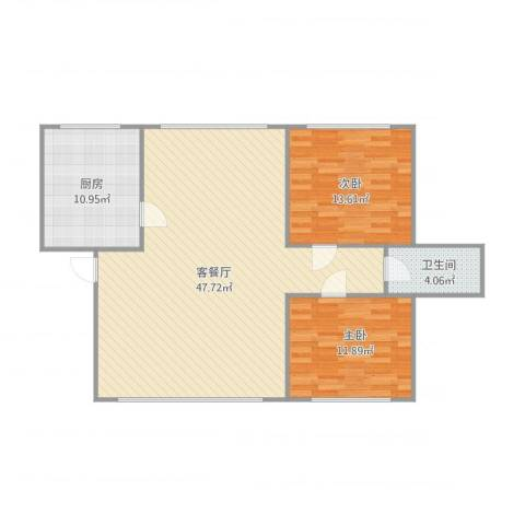 美树日记2室1厅1卫1厨117.00㎡户型图