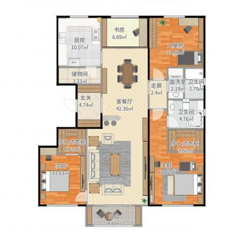 国仕汇4室2厅2卫1厨179.00㎡户型图
