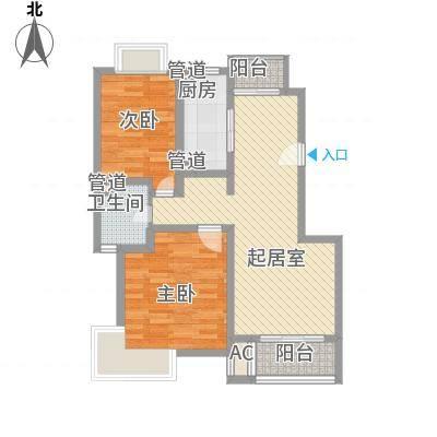 香江世纪名城90.00㎡香江世纪名城2室户型2室-副本