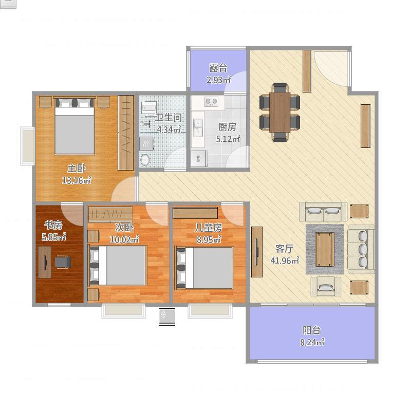 爱窝三房二厅