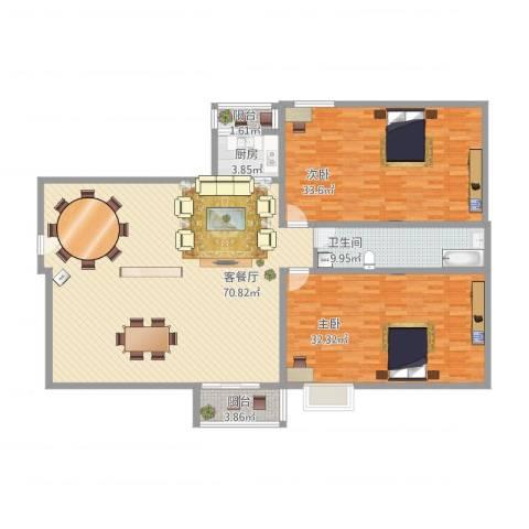 正康花园2室1厅1卫1厨214.00㎡户型图