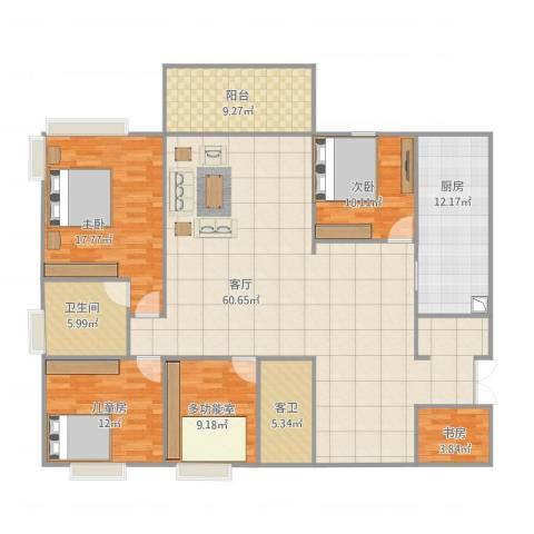 解甲园4室1厅2卫1厨168.00㎡户型图