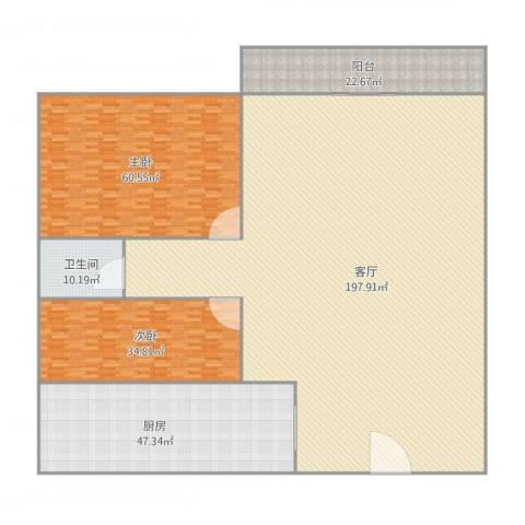 盈翠园A5-4052室1厅1卫1厨482.00㎡户型图