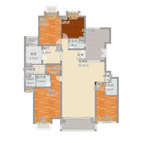 御翠尚府4室3厅3卫1厨240.00㎡户型图