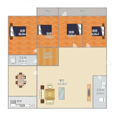 建鑫花园4室2厅2卫1厨609.14㎡户型图