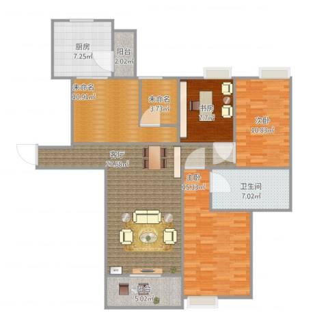 世贸天城3室1厅1卫1厨132.00㎡户型图