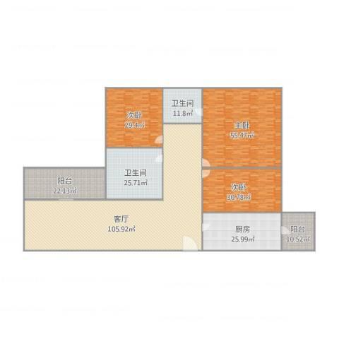 泰裕大厦13043室1厅2卫1厨414.00㎡户型图