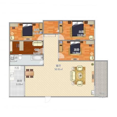 汇源华庭14室1厅2卫1厨160.00㎡户型图