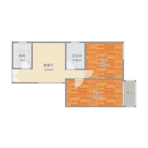 华侨乐园10042室1厅1卫1厨67.00㎡户型图