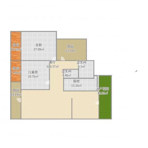 润城・双璧湾2室1厅2卫1厨355.00㎡户型图