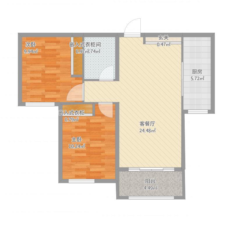 99.27平两室