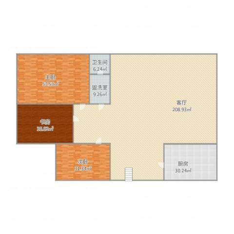阳光舜城3室3厅1卫1厨390.15㎡户型图