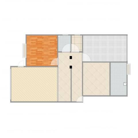 车城温泉花园1室2厅2卫1厨133.00㎡户型图