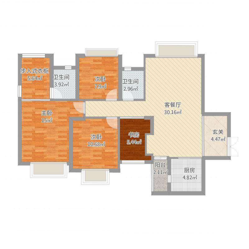 世纪城国际公馆香榭里58-140