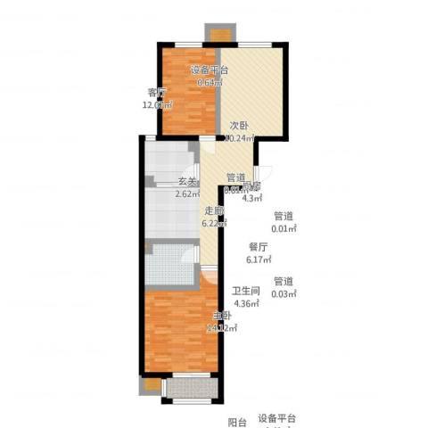 中国铁建・环保嘉苑2室2厅3卫4厨95.00㎡户型图
