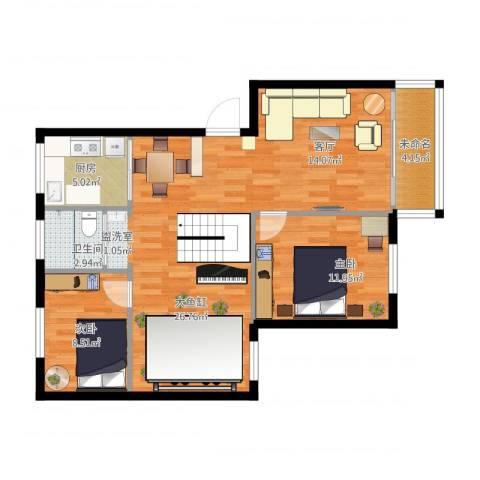 梅江东苑2室1厅1卫1厨103.00㎡户型图