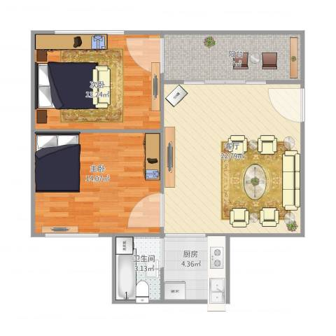 康盈雅苑197号5042室1厅1卫1厨87.00㎡户型图