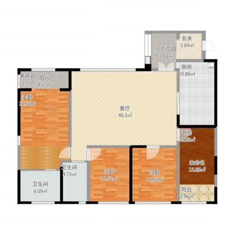 泰悦湾2室1厅5卫1厨177.00㎡户型图