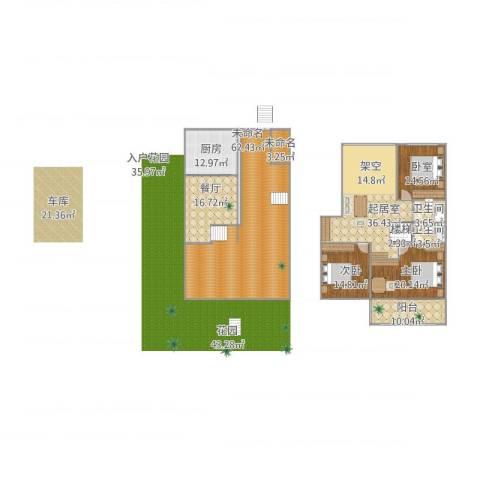 东城郡别墅2室1厅2卫1厨266.00㎡户型图