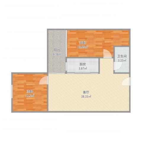 荟丽精英城12082室1厅1卫1厨89.00㎡户型图