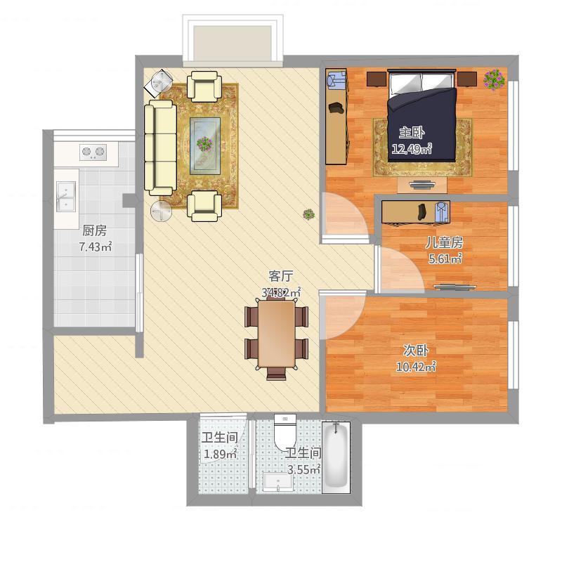 农科院三室两厅