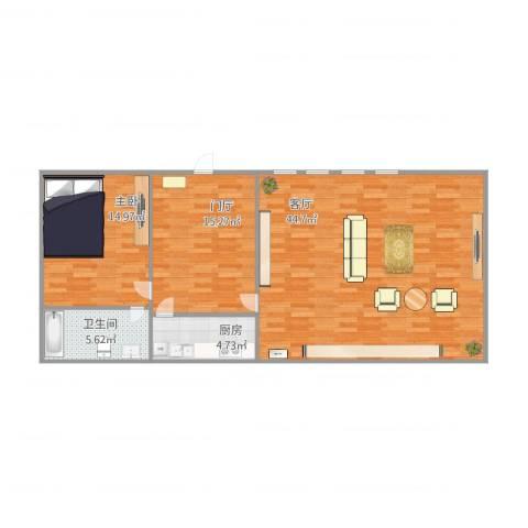 龙跃苑四区1室1厅1卫1厨113.00㎡户型图