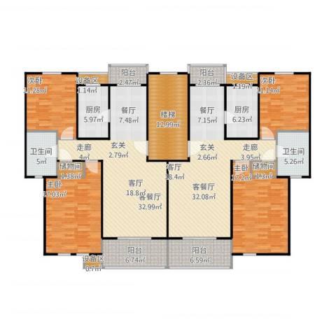 成事高邸4室4厅2卫2厨245.00㎡户型图