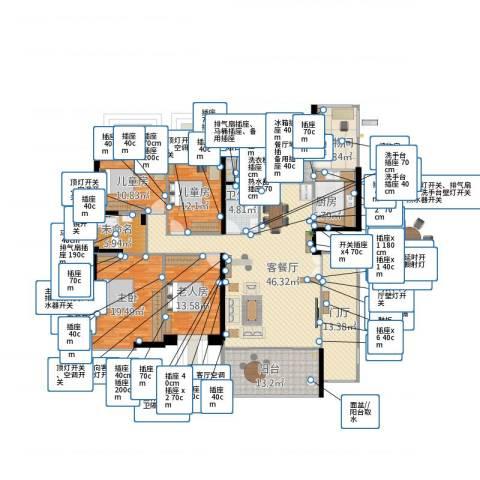 城建仁山智水花园4室2厅1卫1厨228.00㎡户型图