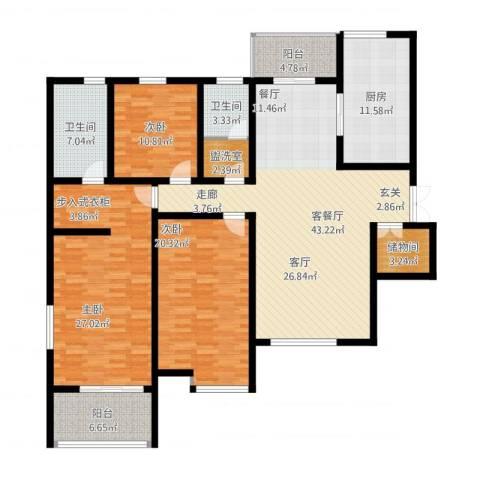 曲江诸子阶3室2厅2卫1厨200.00㎡户型图