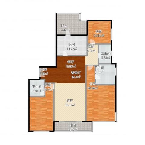 嘉天汇3室2厅3卫1厨255.00㎡户型图