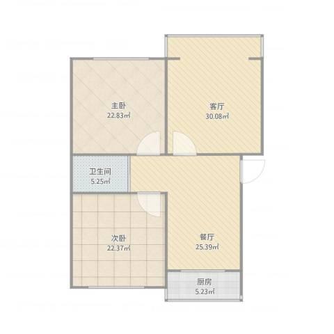 南湖新村2室2厅1卫1厨145.00㎡户型图