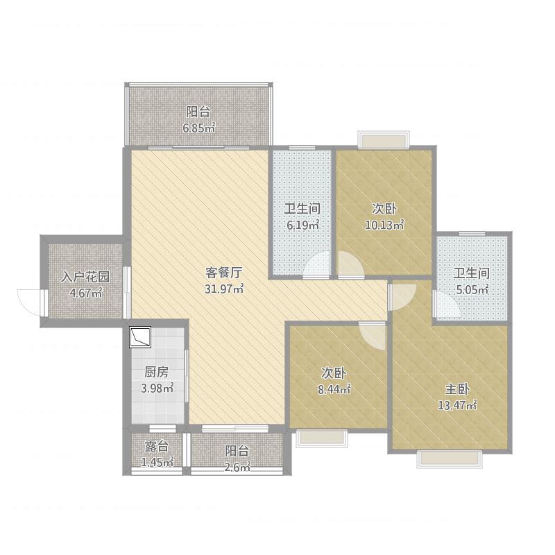 江西_劲嘉山与城_18栋2701原始结构图