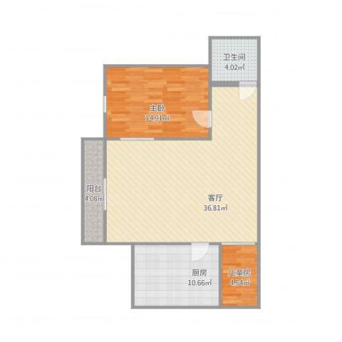 福隆花园2室1厅1卫1厨100.00㎡户型图