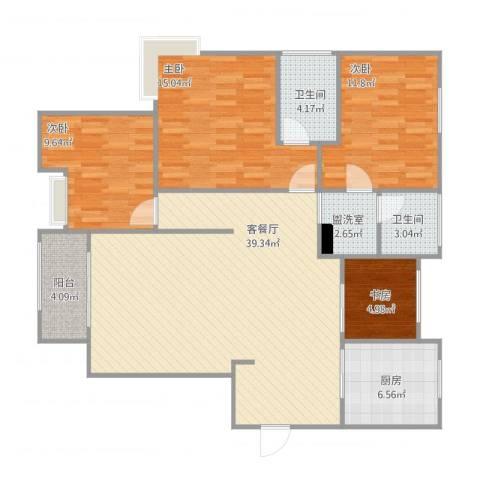 绿地望海新都(绿地领御)4室4厅2卫1厨109.53㎡户型图