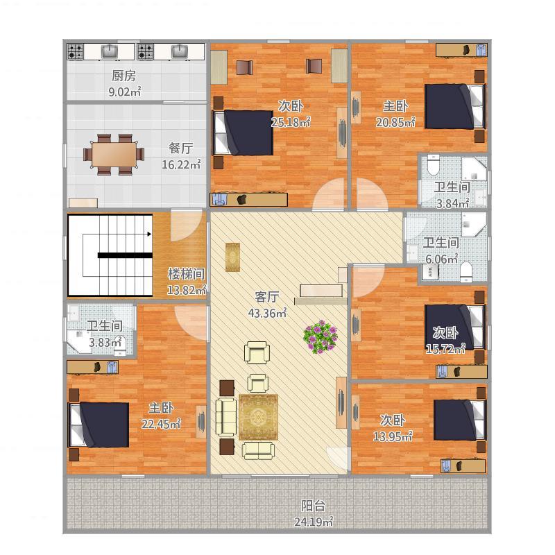 自建房(标准层)方案4