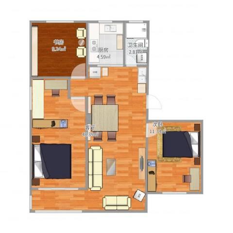 文昌桥小区2室1厅1卫1厨103.00㎡户型图