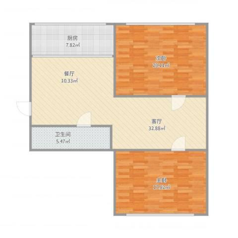 叠翠山庄2室1厅1卫1厨112.00㎡户型图