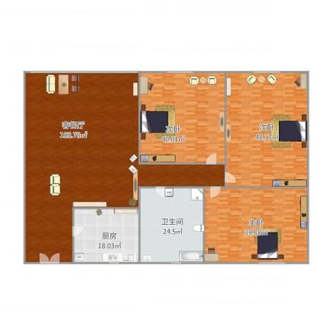 昌明楼3室2厅1卫1厨356.00㎡户型图